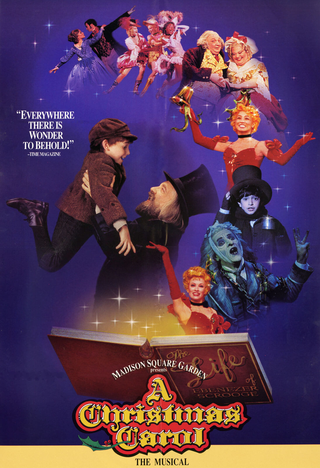 The Poster to celebrating the 10-year run of A Christmas Carol.