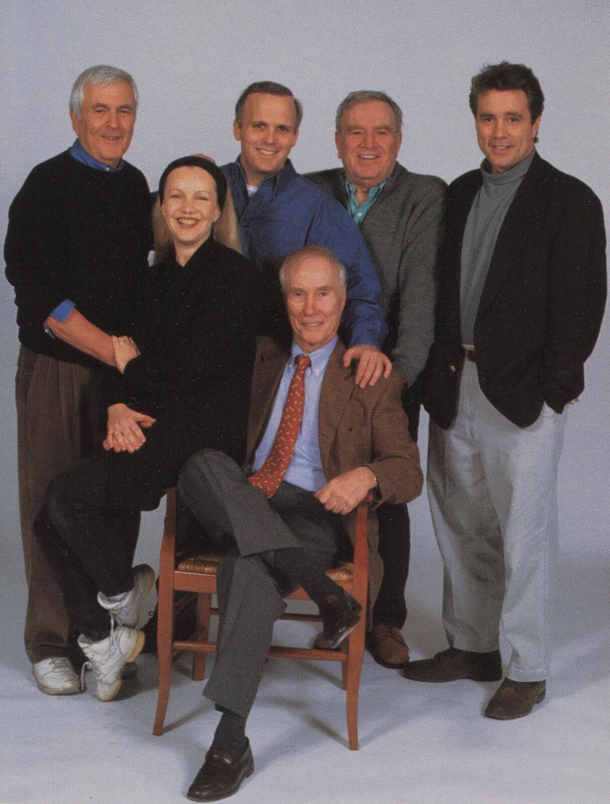 The Creative Team of Steel Pier- John Kander, Susan Stroman, Scott Ellis, Roger Berlind, Fred Ebb and David Thompson.