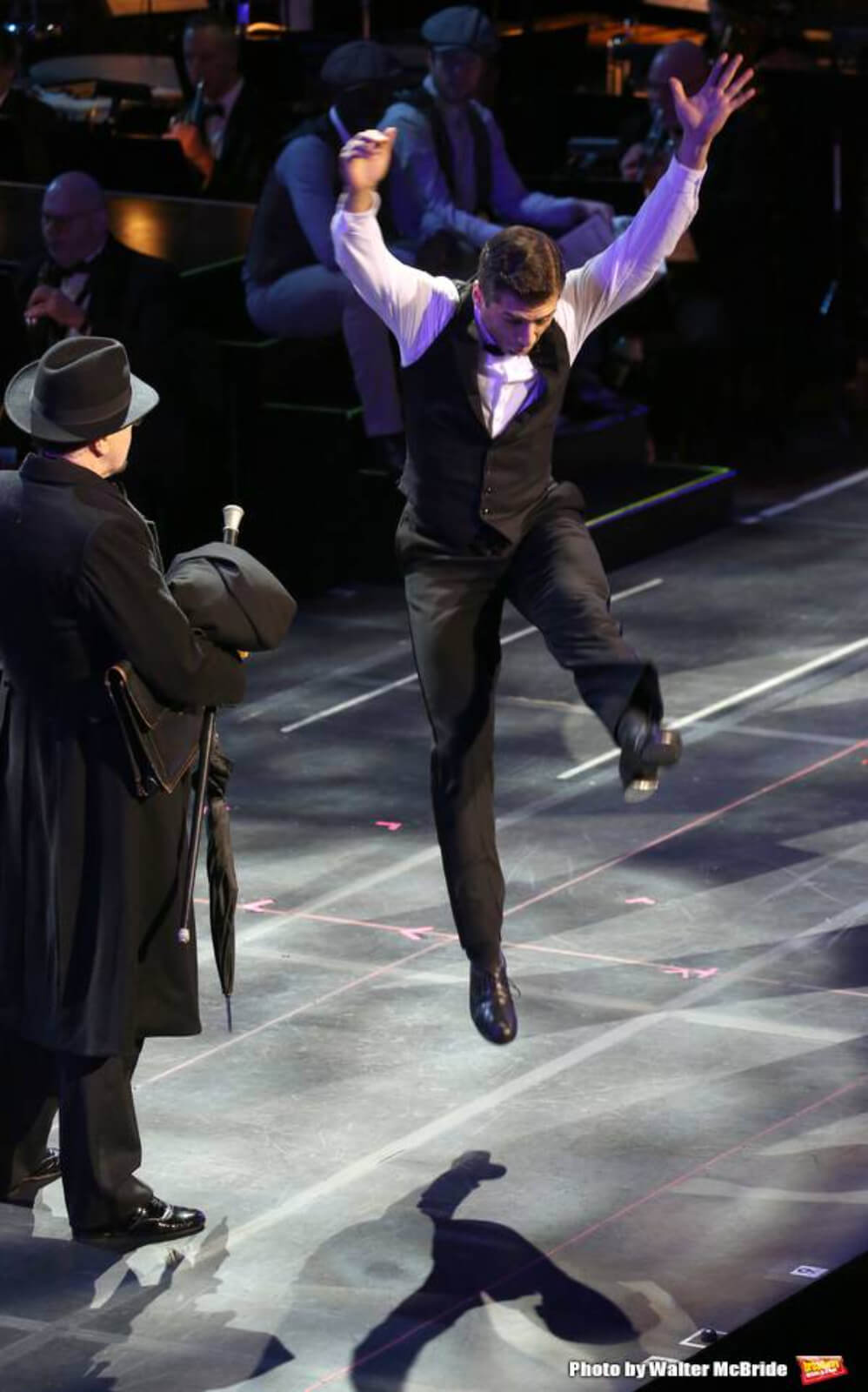 Tony Yazbeck tap dancing in the 25th Anniversary Concert of Crazy for You.