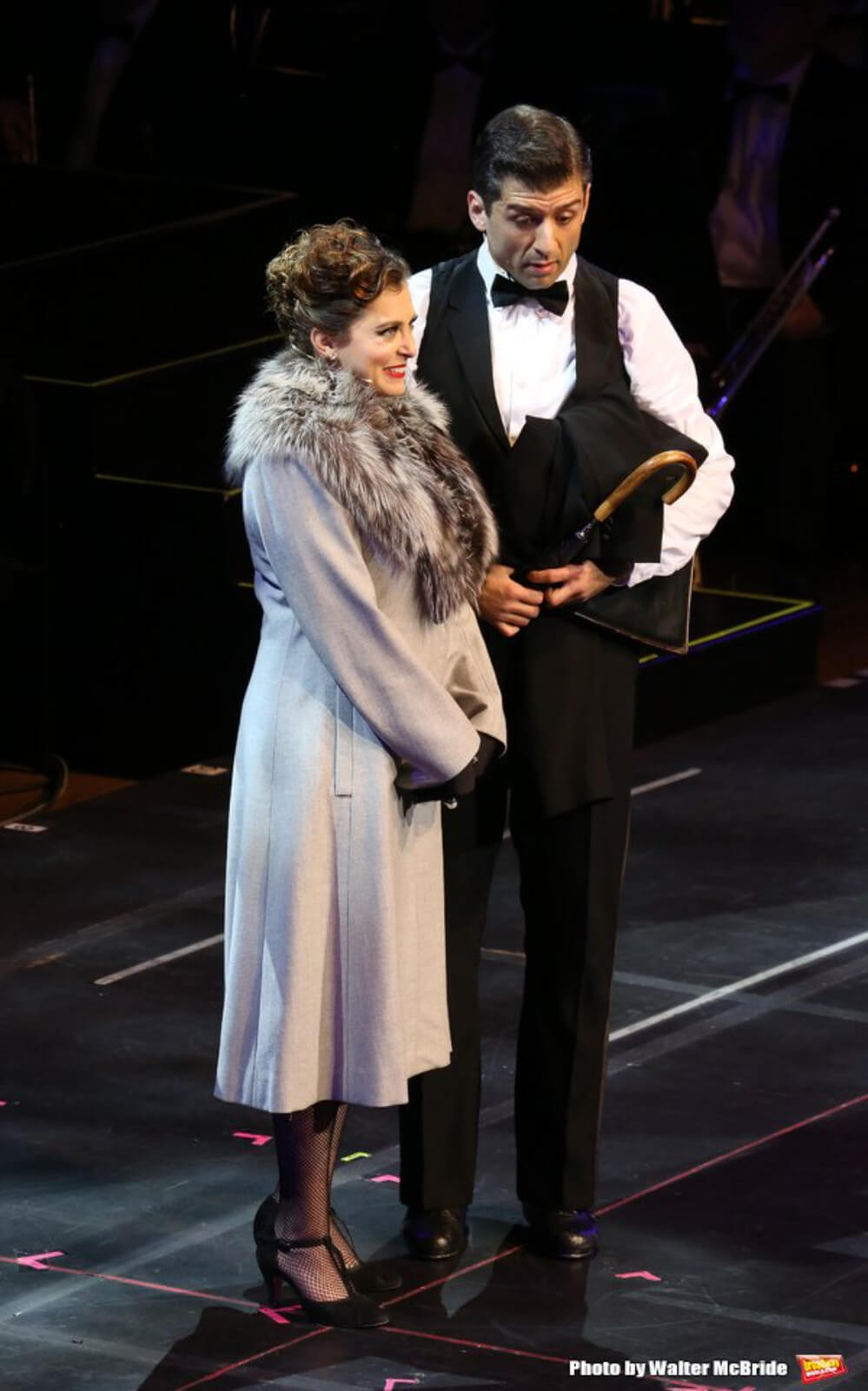 Rachel Bloom and Tony Yazbeck performing in the 25th Anniversary Concert of Crazy for You.