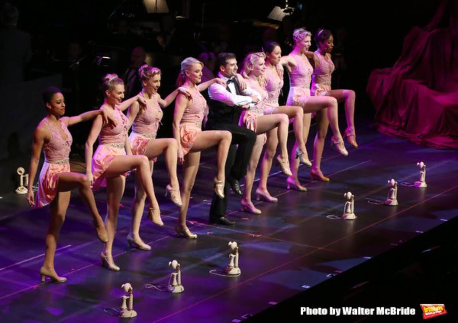 """Tony Yazbeck and dancers performing """"I Can't Be Bothered Now"""" in the 25th Anniversary Concert of Crazy for You."""
