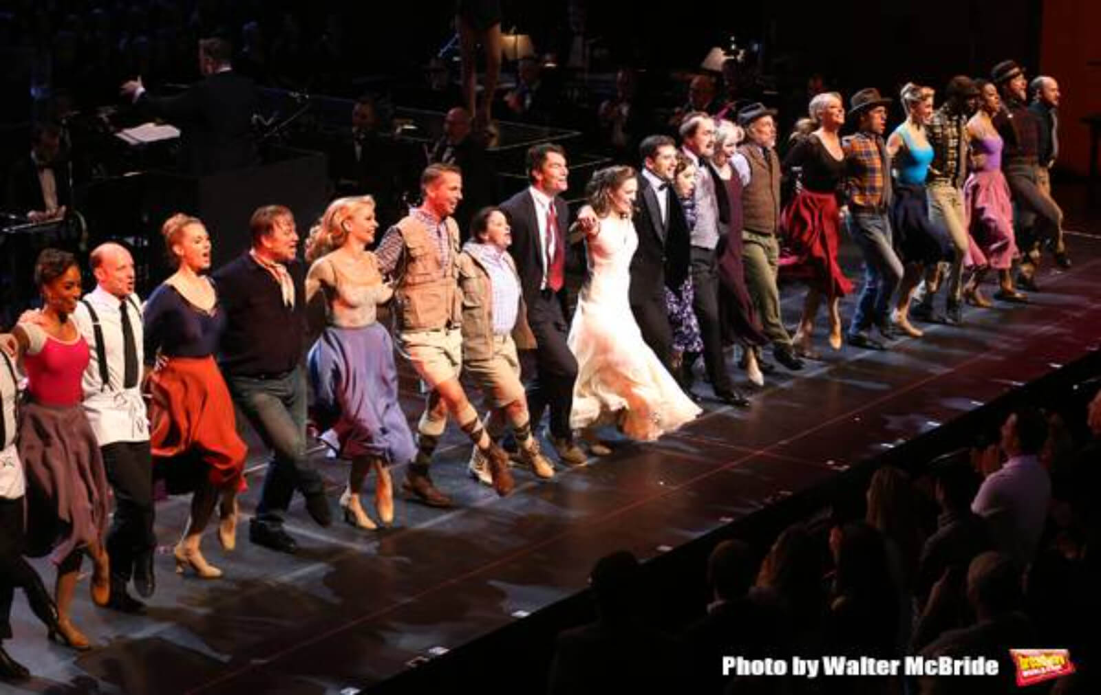 Full Cast dances side by side for the finale in the 25th Anniversary Concert of Crazy for You