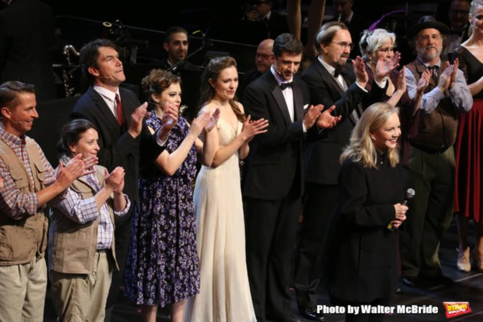 25th Anniversary Concert cast of Crazy for You with Susan Stroman.