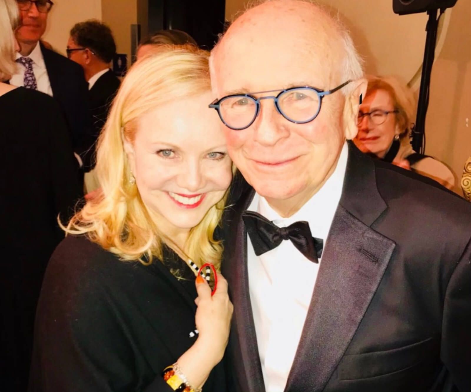 Susan Stroman and playwright Terrence McNally pose for a picture for Dedication or the Stuff of Dreams