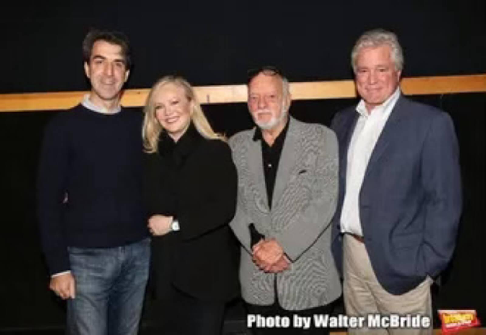 Jason Robert Brown, Susan Stroman, Hal Prince, and David Thompson working together on Prince of Broadway.