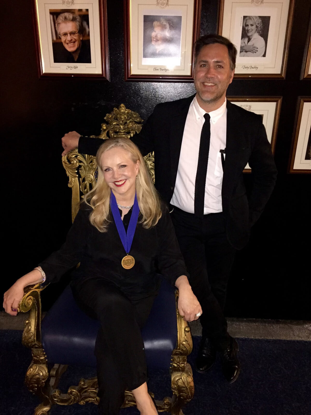 Susan Stroman and associate Scott Bishop at the Theater Hall Of Fame ceremony.