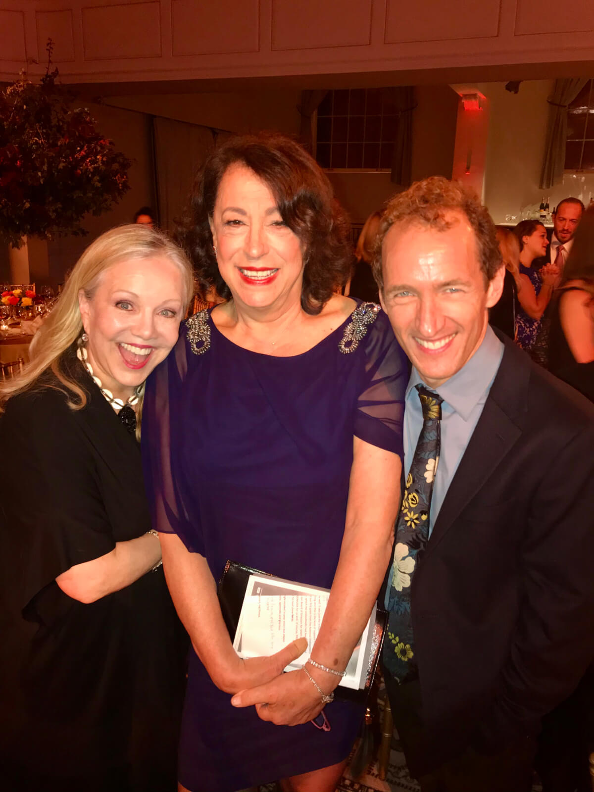 Susan Stroman with producers Lynn Meadow and Jeffrey Seller.