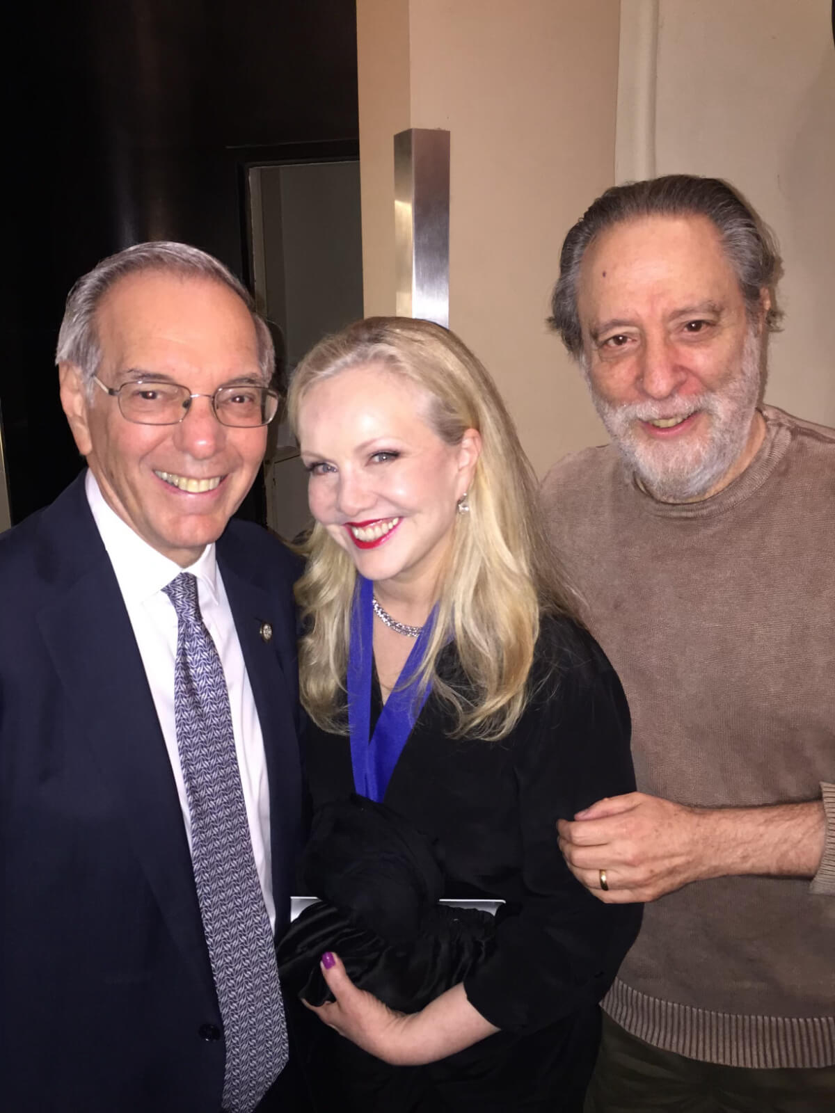 Susan Stroman with producers Roy Furman and Julian Schlossberg.