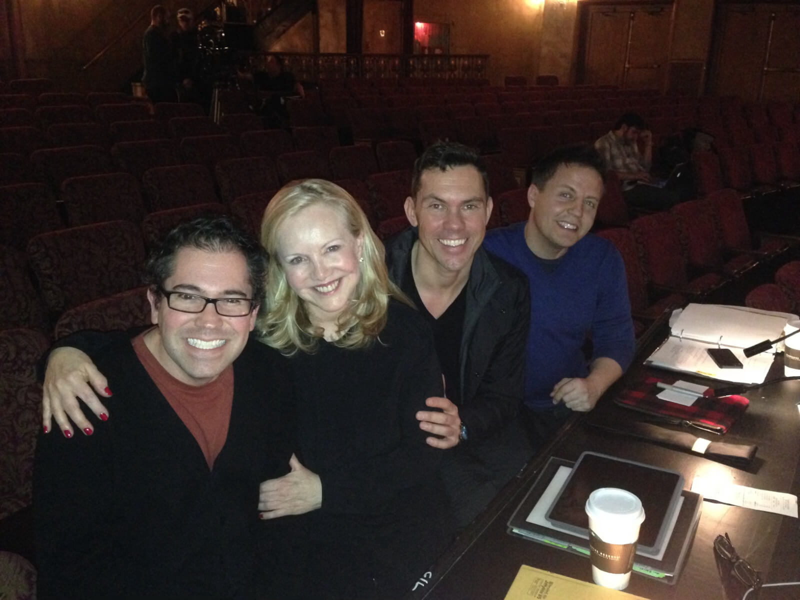 Musical director Andy Einhorn, Susan Stroman, associate choreographer James Gray, associate director Jeff Whiting