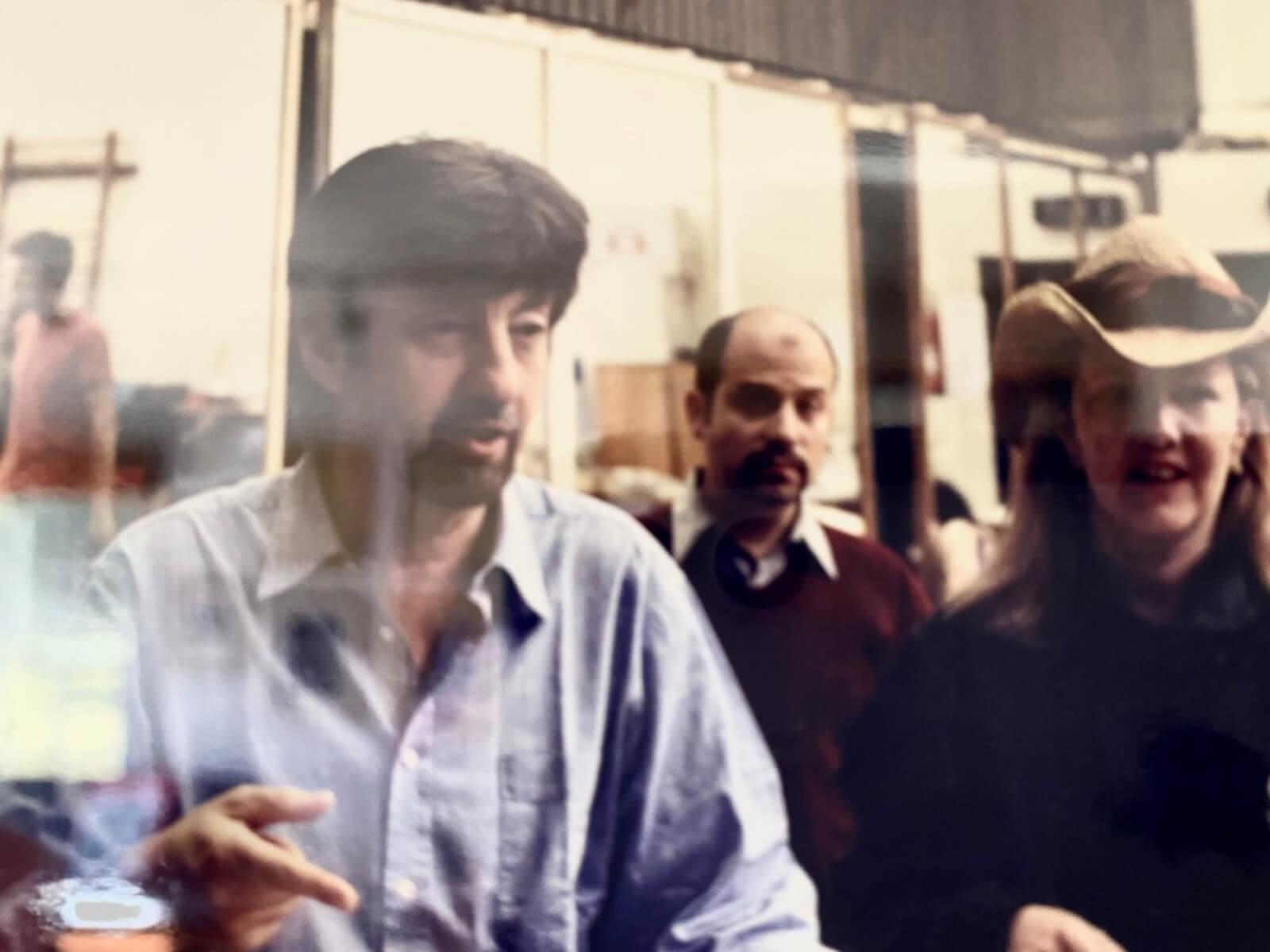 Director Trevor Nunn, Dance Arranger David Krane and Choreographer Susan Stroman rehearsing for the West End production of Oklahoma.