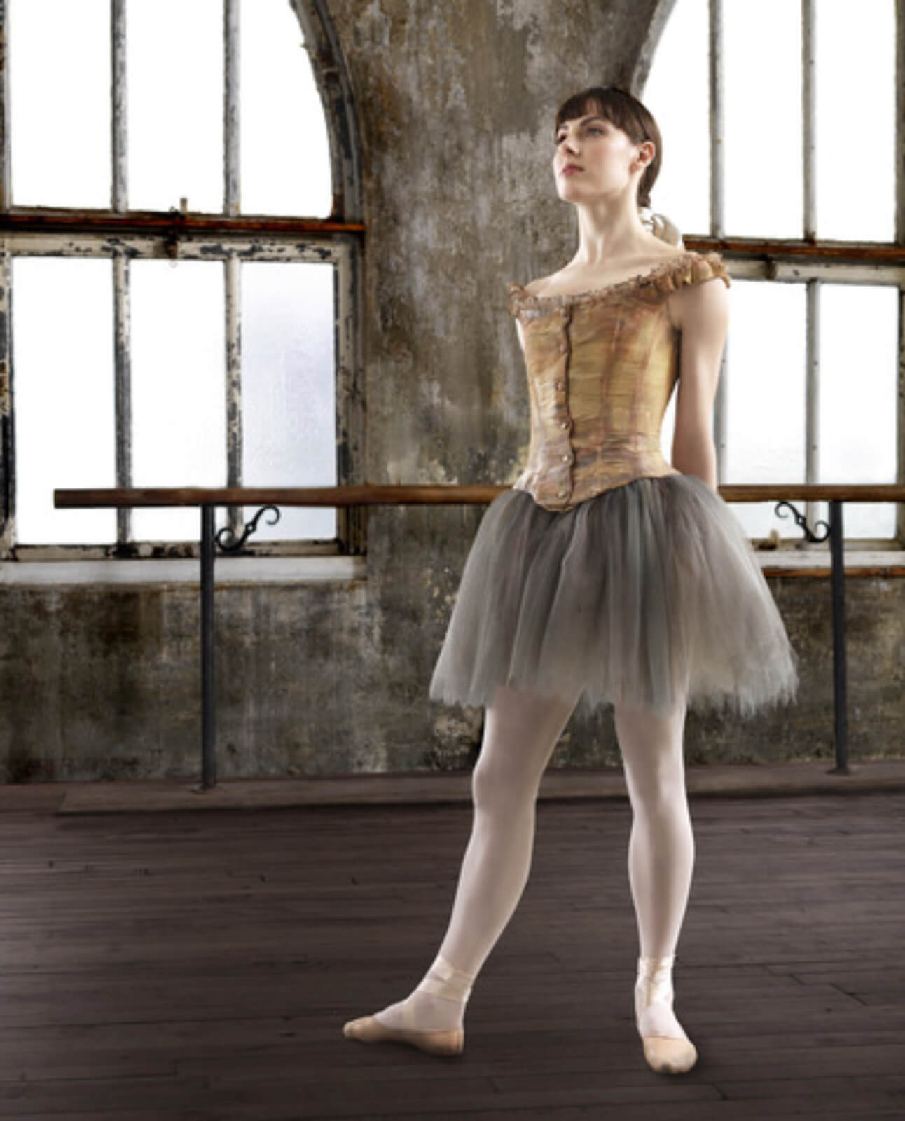 Marie (Tiler Peck) in exact position and costume replicating the famous Degas Sculpture.