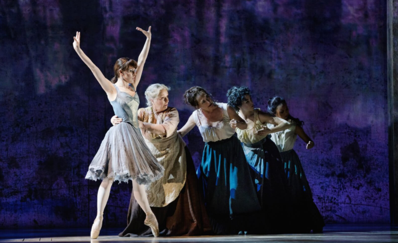Marie (Tiler Peck) dancing with the laundresses in the musical Little Dancer.