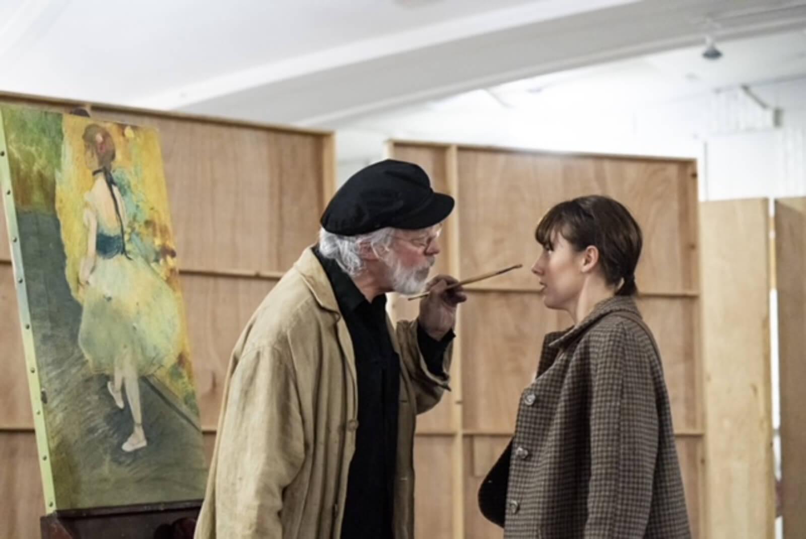 Dega (Terrance Mann) teases Marie (Tiler Peck) in the musical Little Dancer.