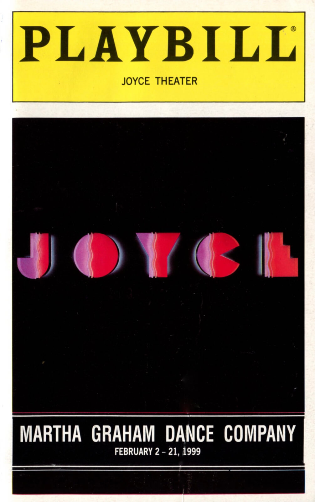 Official Playbill for the Opening Night of But Not For Me, featuring the Joyce logo.