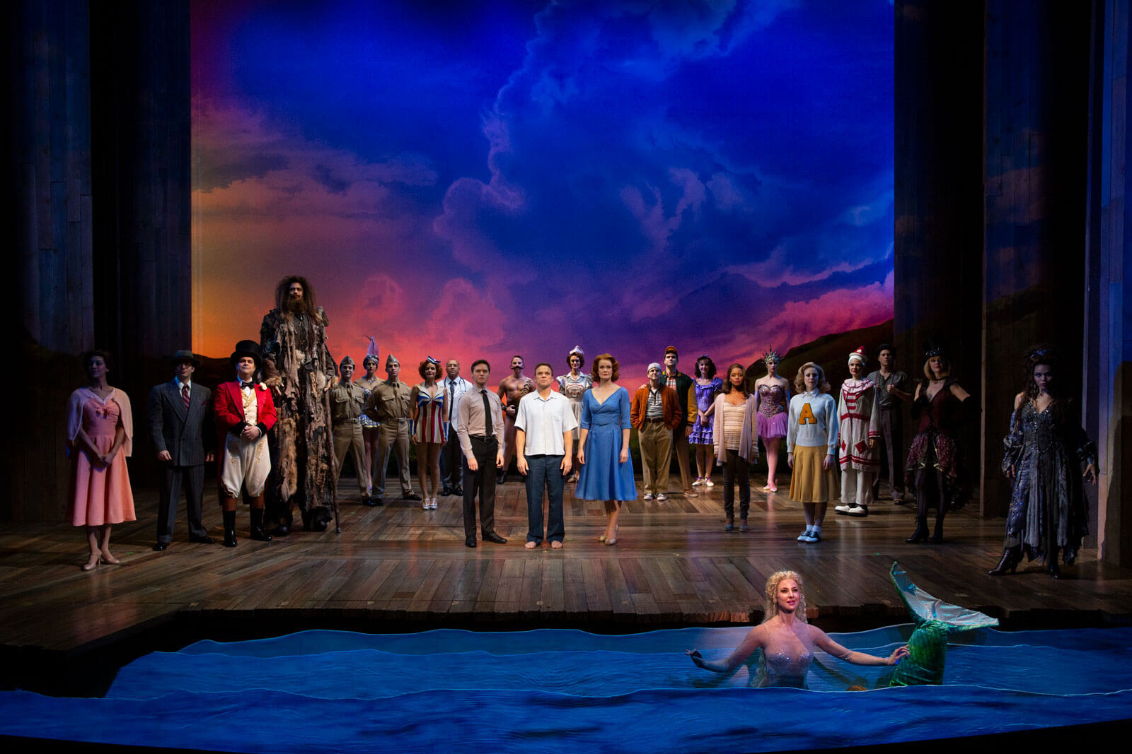 """The cast of Big Fish performs """"How It Ends""""."""