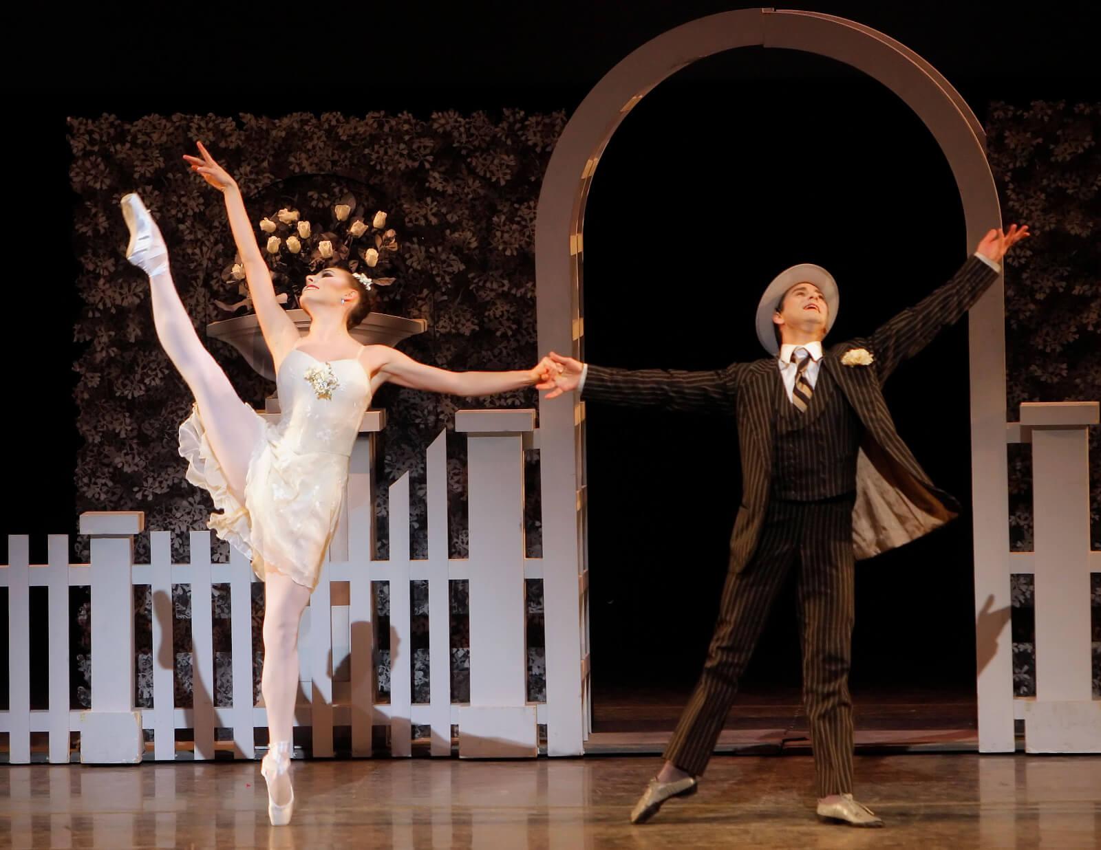 Tiler Peck and Tom Gold dance a pas de deux.