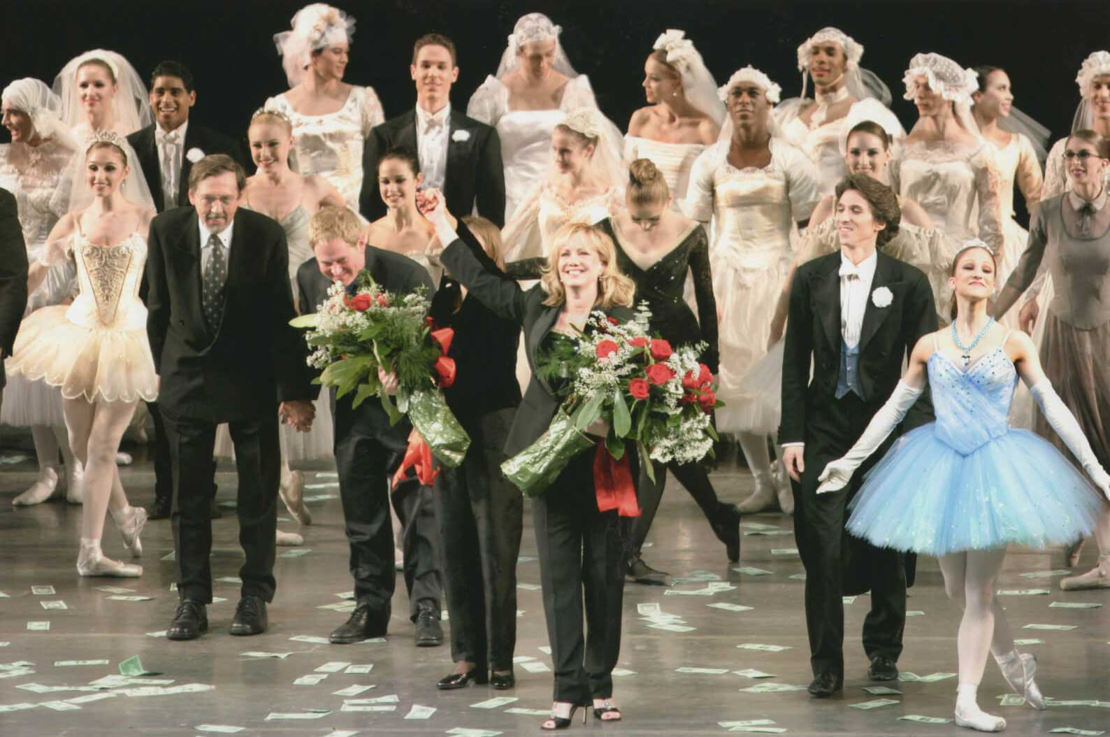 Susan Stroman and the company on the historical Opening Night. Stro is the first woman to choreograph a full-length ballet for New York City Ballet.