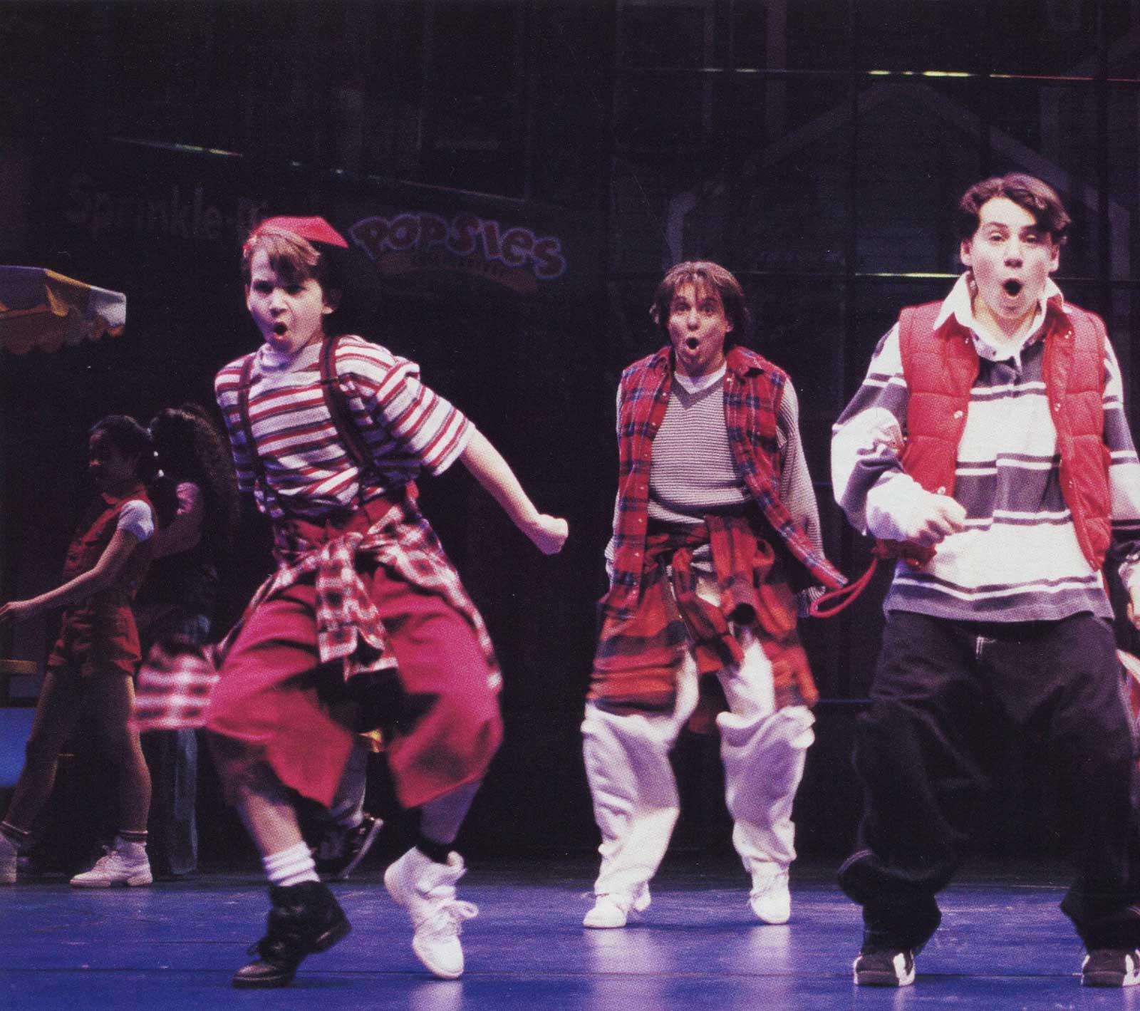 Brandon Espinoza, Alex Sanchez and Brett Tabisel in Big The Musical.