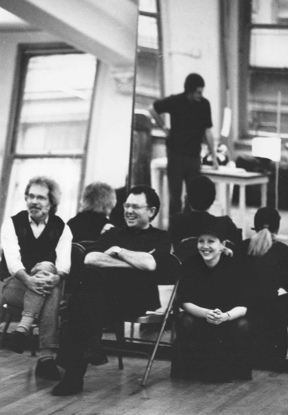 John Weidman, Mike Ockrent and Susan Stroman watch rehearsals for Big The Musical.