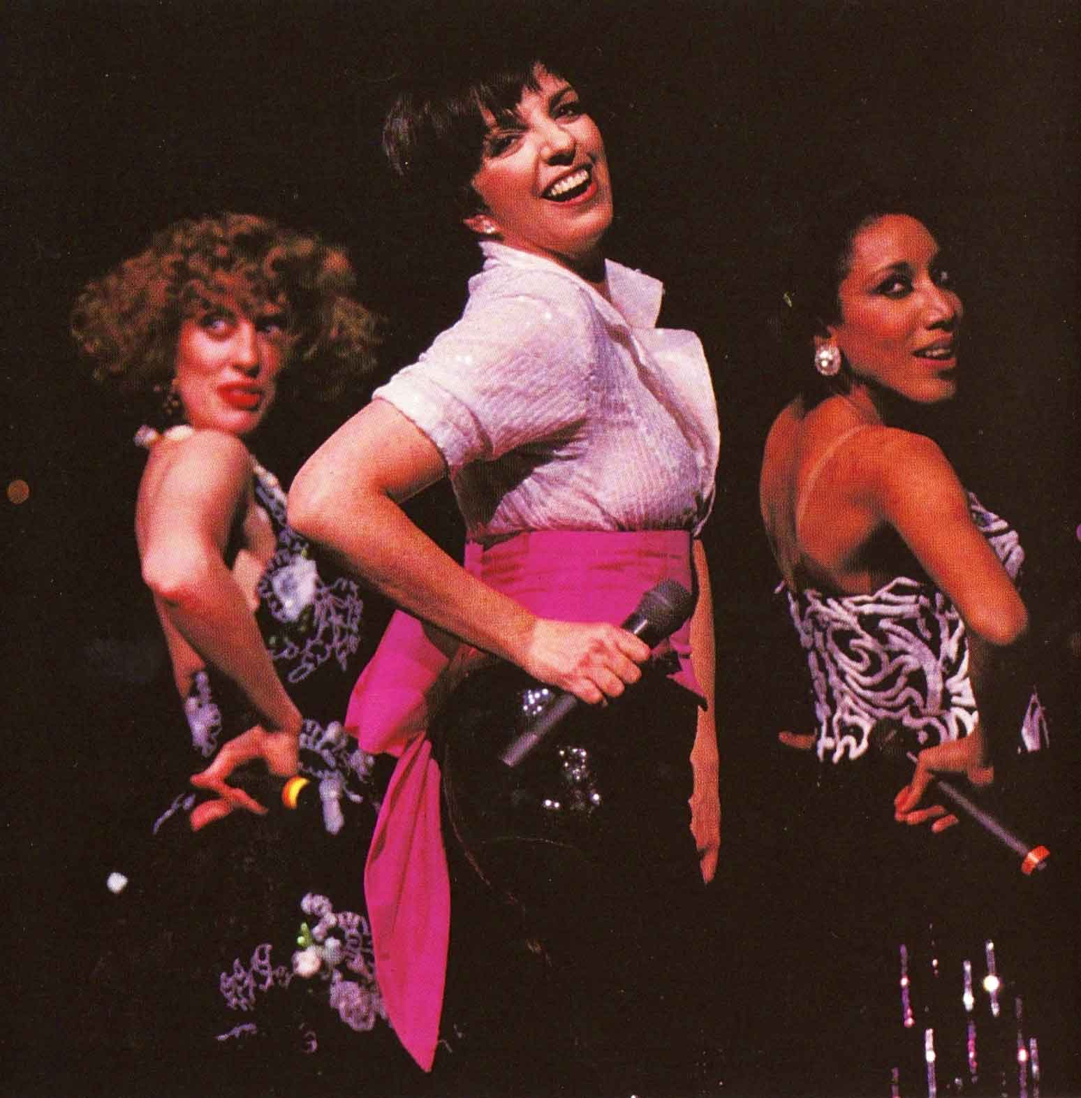 Ruth Gottschall, Liza Minnelli and Mamie Duncan Gibbs. They are dancing together and looking downstage over their right shoulder.