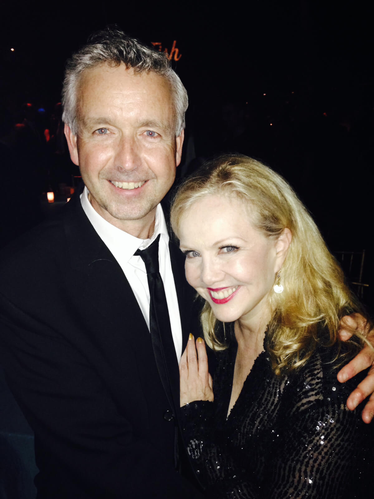 Associate Choreographer of Crazy For You, Steel Pier, Contact, Big Fish and A Christmas Carol Chris Peterson with Director/Choreographer Susan Stroman. Both are dressed in black tie attire.