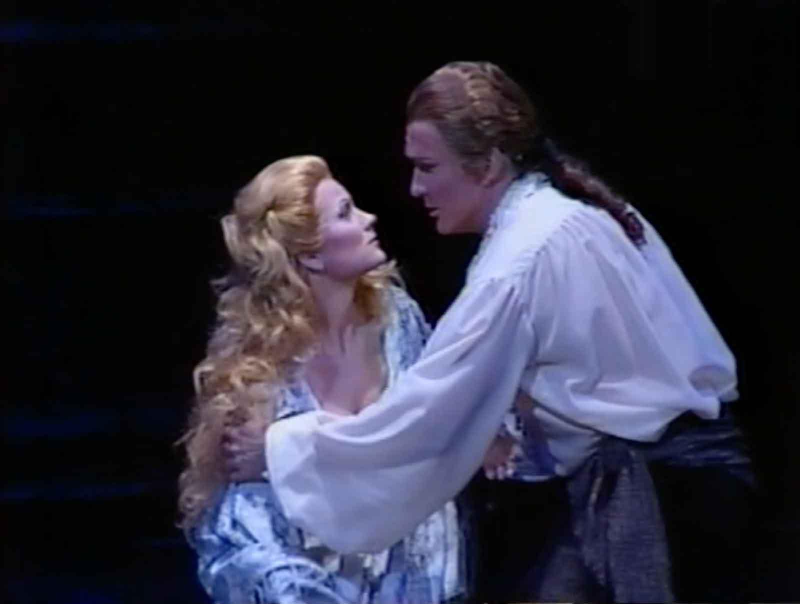 Donna Anna (Elizabeth Holleque) and Ottavio (Jon Garrison)