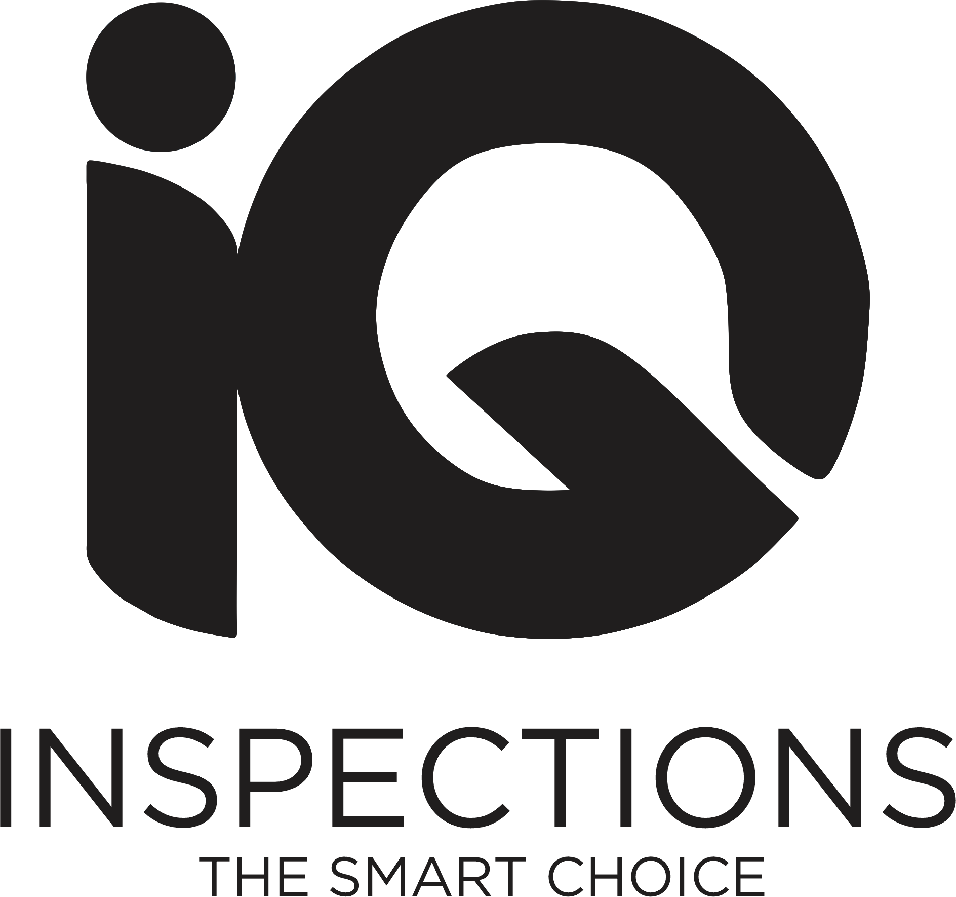 The IQ Inspections logo, clicking here refreshes the homepage