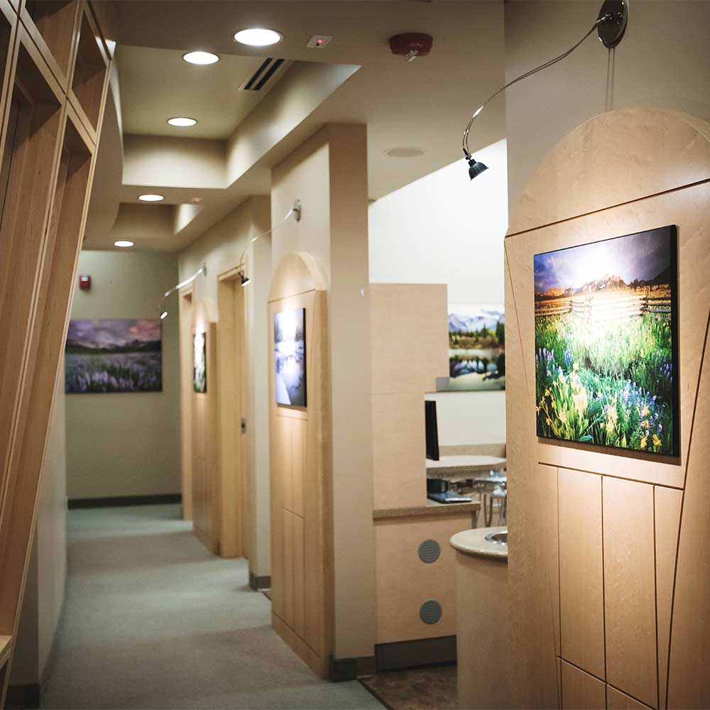 Photo of the hallway between treatment rooms in our Westminster CO dental practice