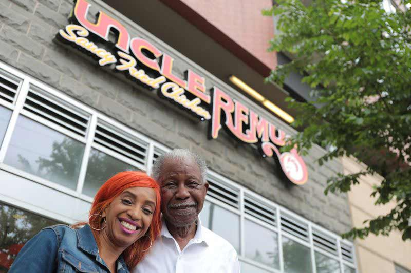 Picture of the Uncle Remus CEO Charmaine Rickette and Founder Gus Rickette Sr.