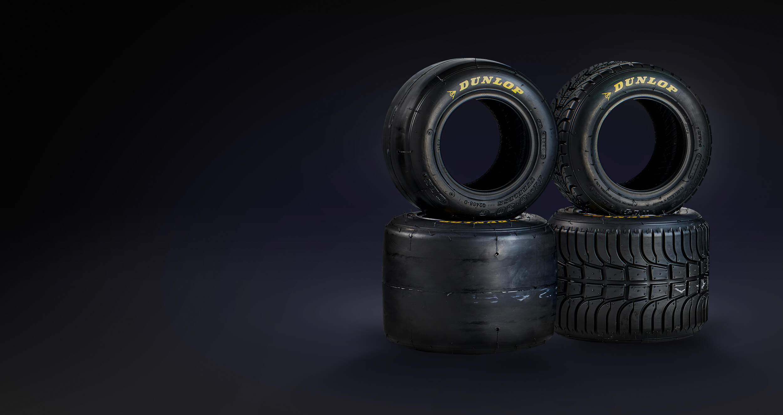We stock Dunlop Kartsport tyres here at Anderson Karts in our Tyre Shop