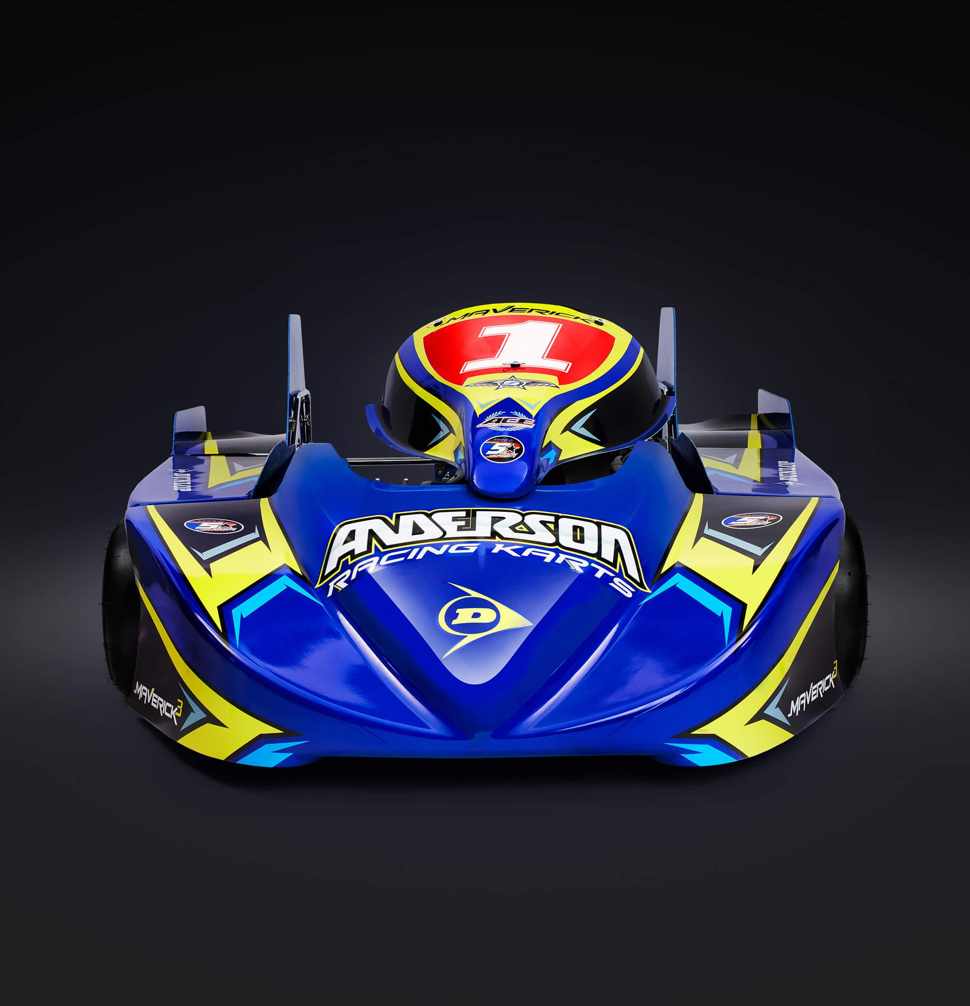 Anderson Maverick 3 250 Div 1 Superkart Front Perspective