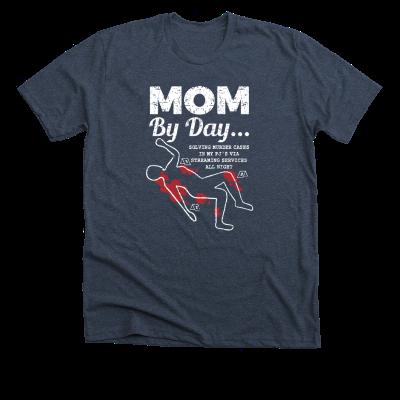 Mom by day... Meredith Masony merch, a navy tee