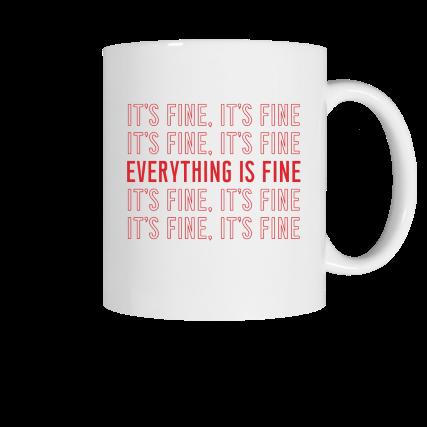 It's fine, It's fine... Meredith Masony merch, a white ceramic mug