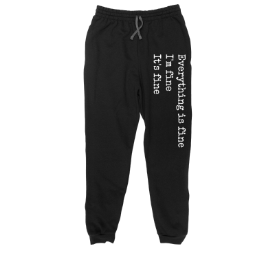 A mother's mantra Meredith Masony merch, black classic joggers