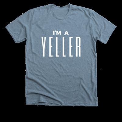 I'm a Yeller Meredith Masony merch, an indigo tee