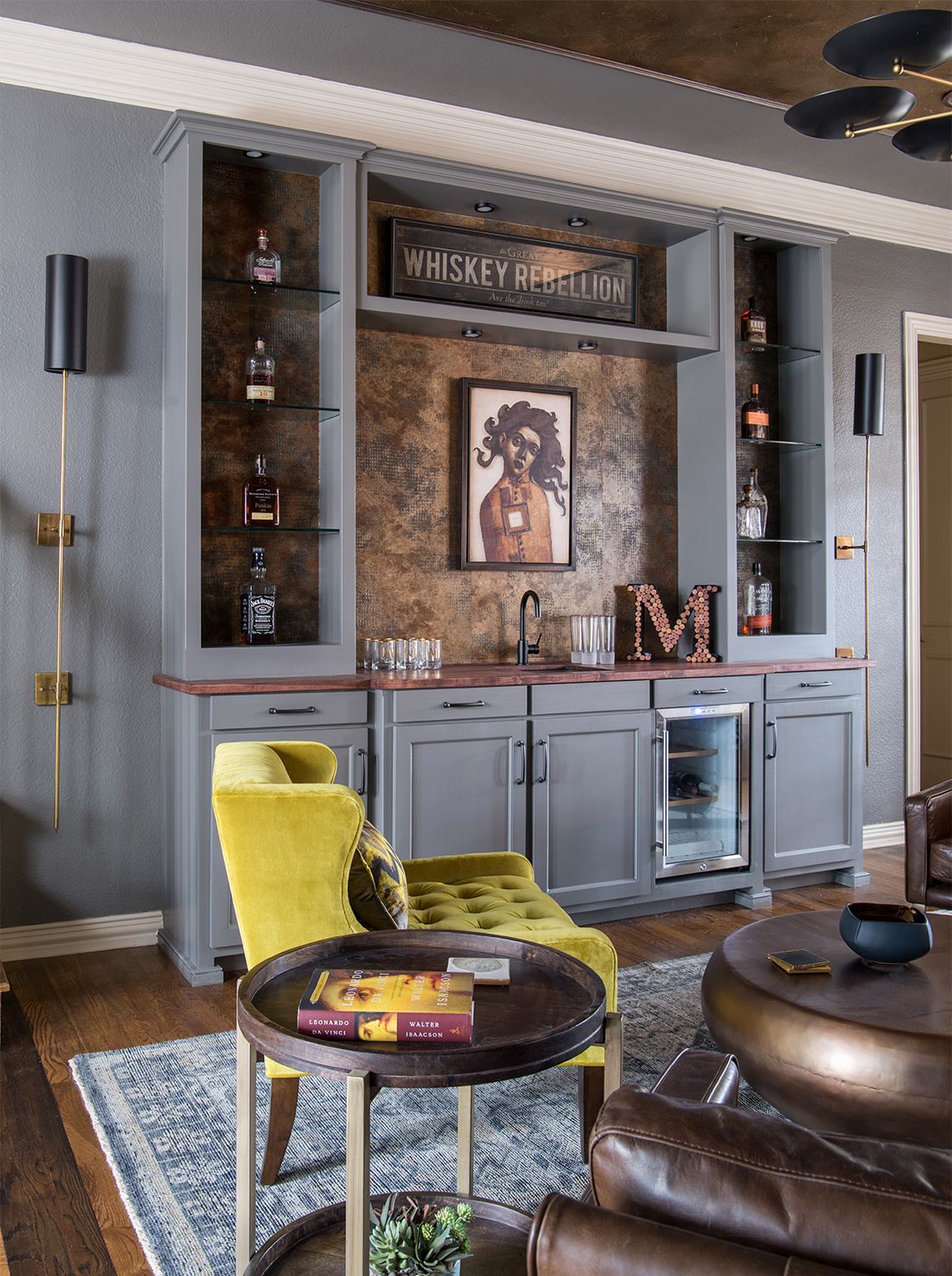A whiskey lounge remodel in Keller, Texas