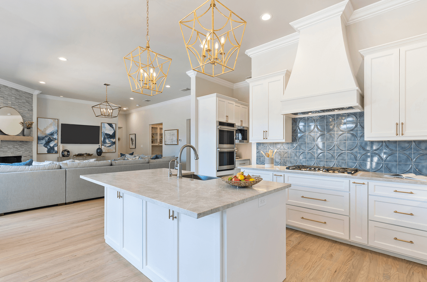 A whole home remodel and furnishings project in Copell, Texas