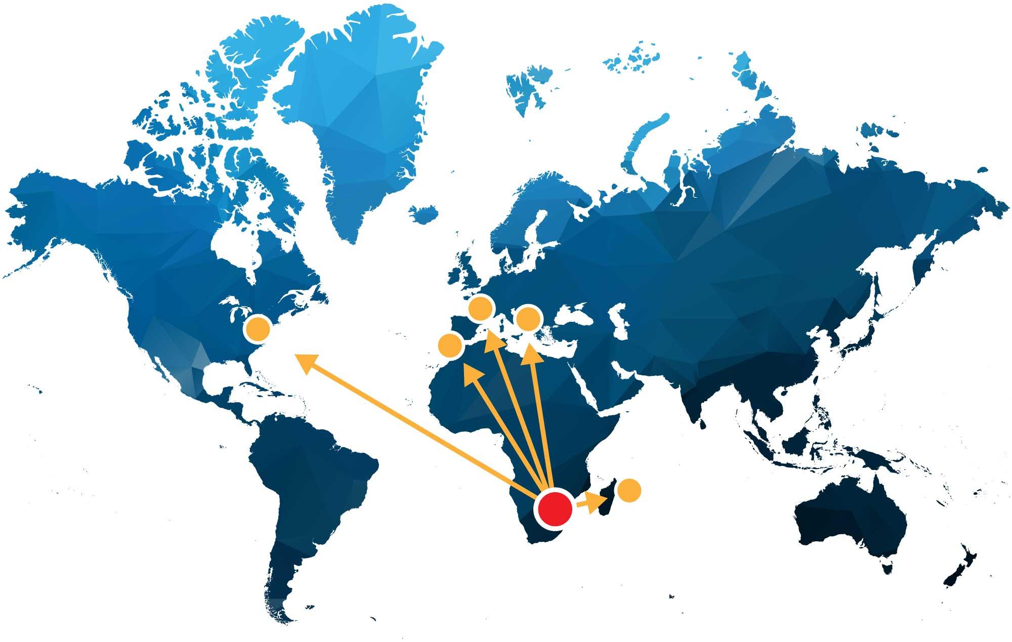 Nautical Blu Trading Routes