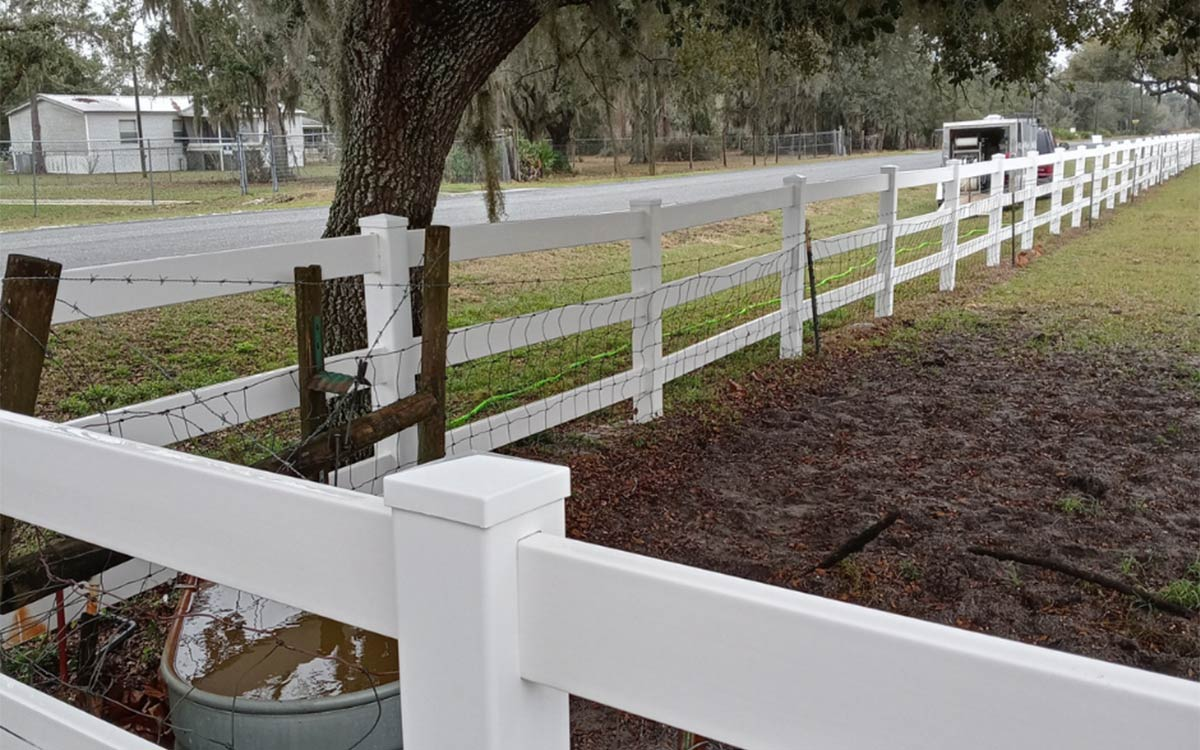 Fence after being cleaned by P&P Exterior Wash