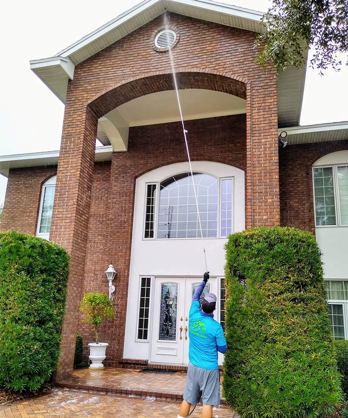 Roof washing in Haines City, FL