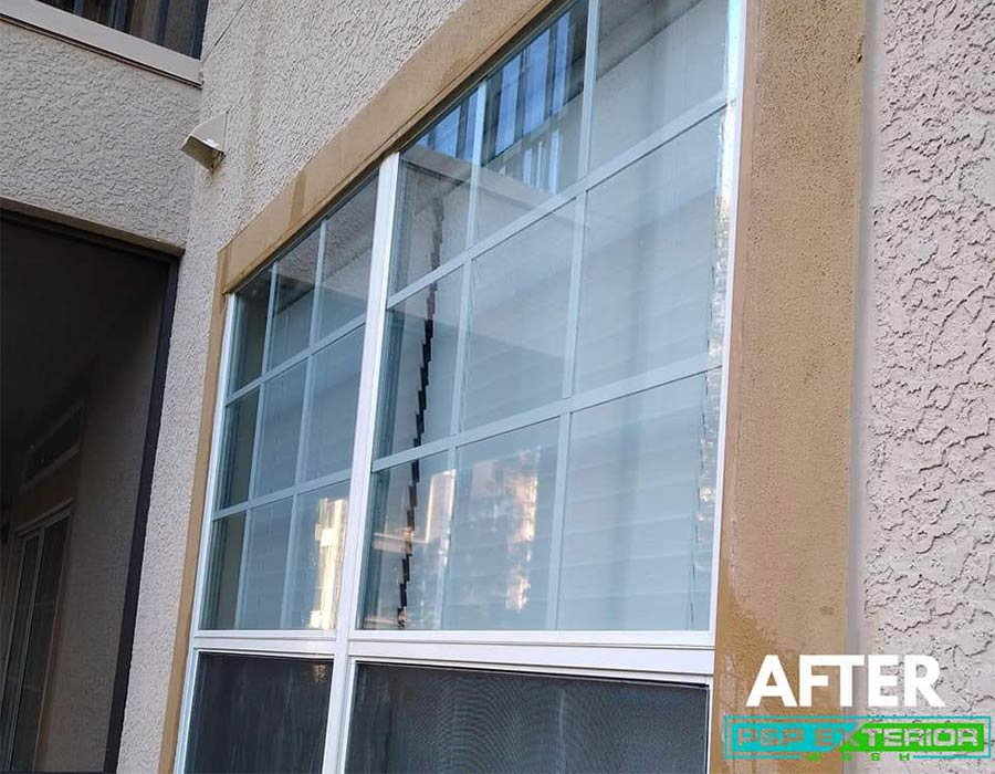 Windows after being cleaned in Haines City, FL