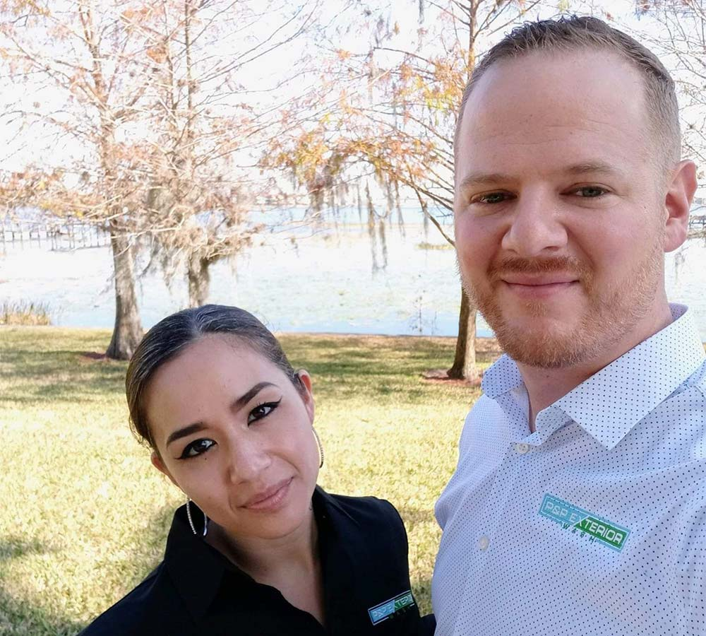 Husband and wife team of P&P Exterior Wash, Haines City FL