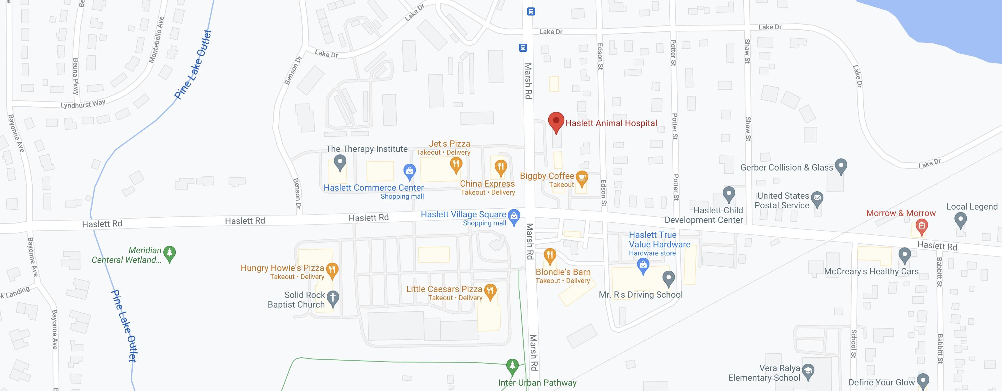 Haslett Animal Hospital Map