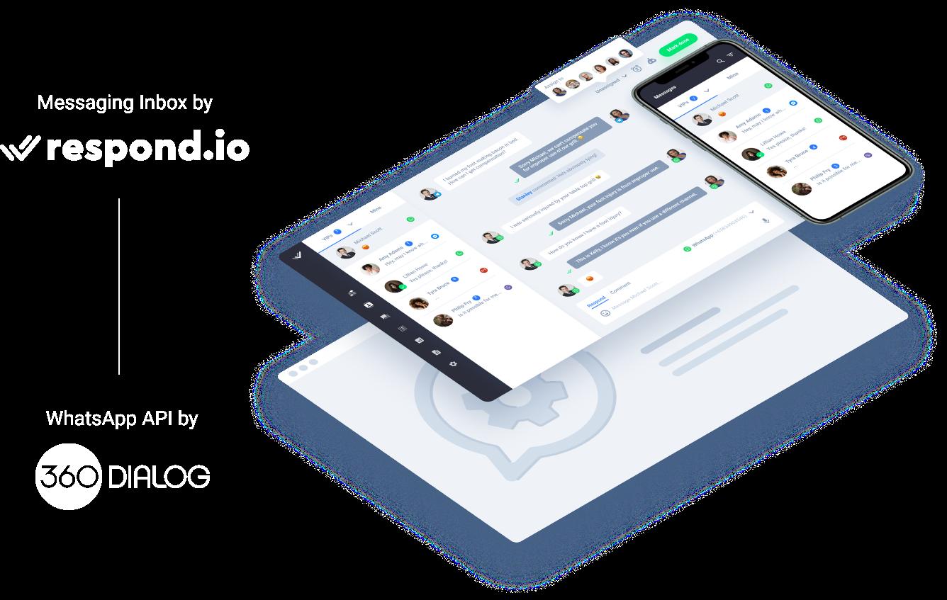 WhatsApp Business API for respond.io and 360Dialog