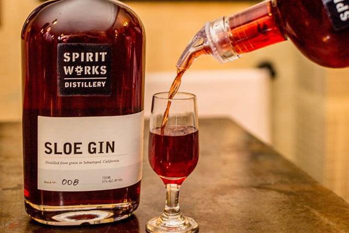 what is sloe gin spirit works