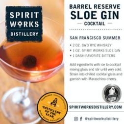 SHELF TALKER - BARREL SLOE GIN COCKTAIL & STORY