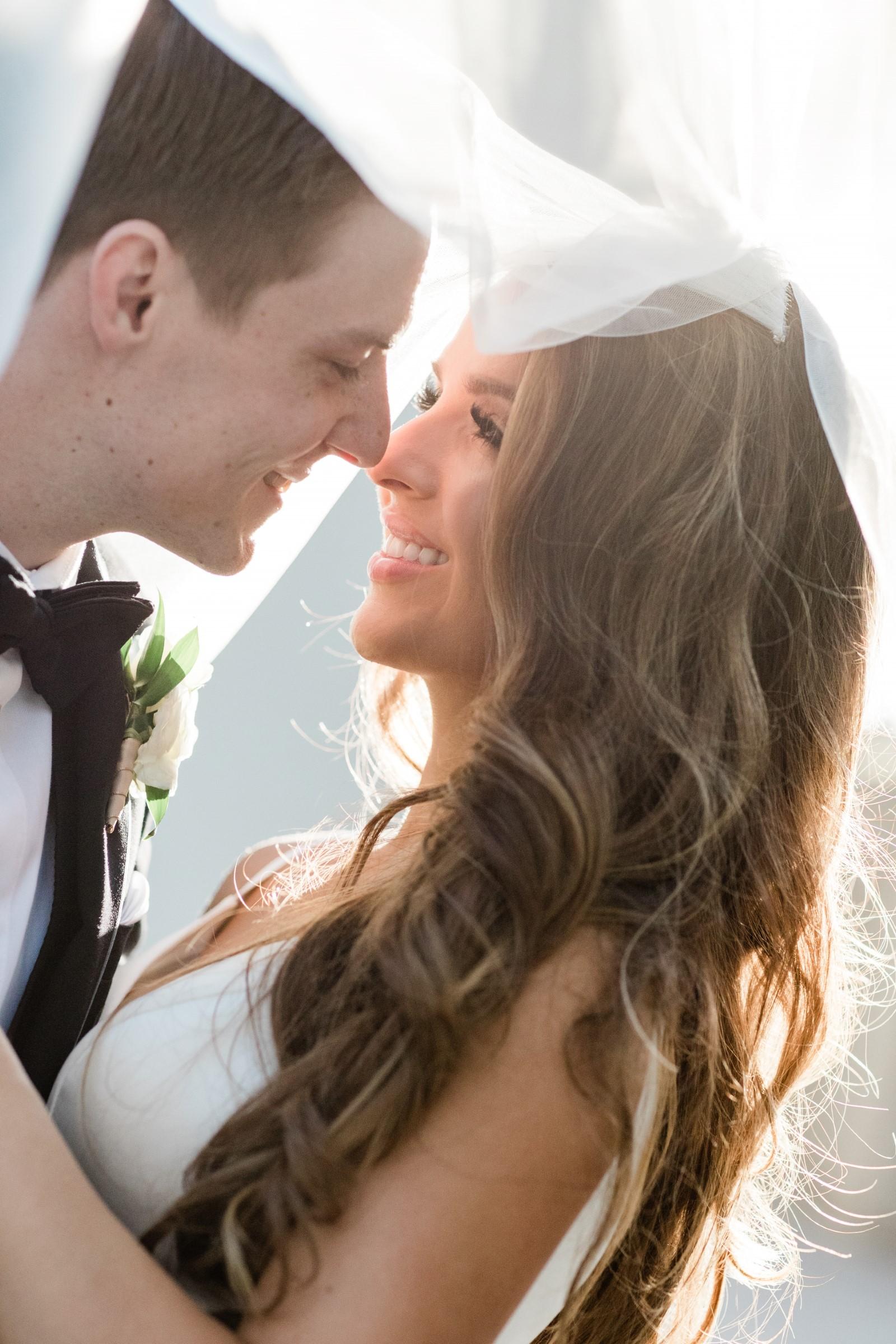 spray tan photo session los angeles wedding couple