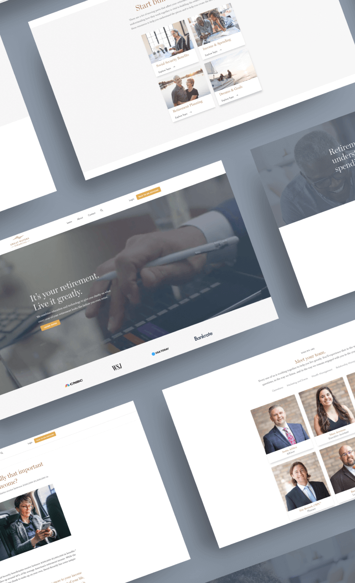 Website redesign for Great Waters Financial.