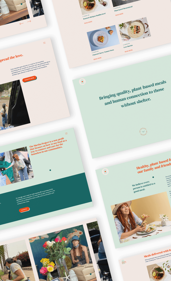 Website redesign for The Martha Project