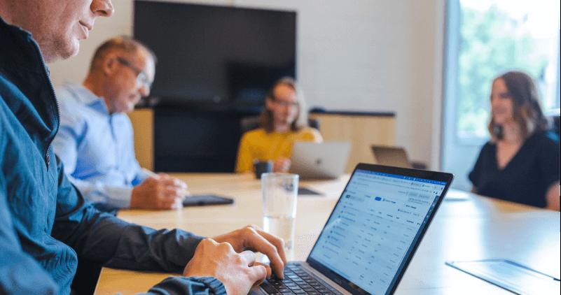 The Coefficient Digital team having a client meeting.